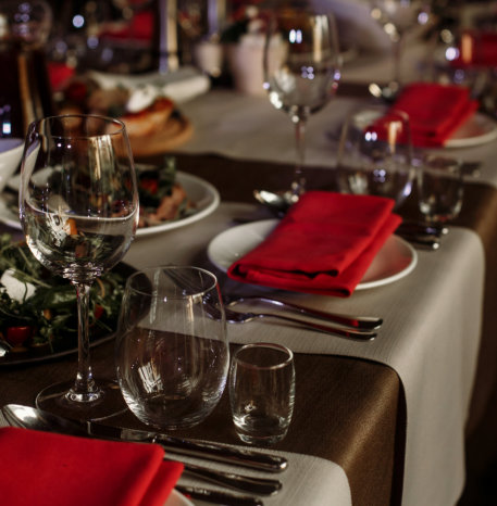 decorated tabled and chairs